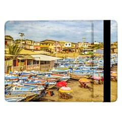 Engabao Beach At Guayas District Ecuador Samsung Galaxy Tab Pro 12 2  Flip Case by dflcprints