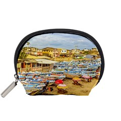 Engabao Beach At Guayas District Ecuador Accessory Pouches (small)  by dflcprints