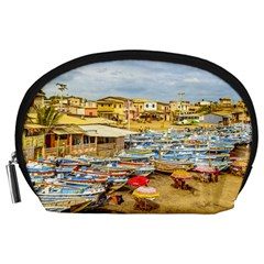 Engabao Beach At Guayas District Ecuador Accessory Pouches (large)  by dflcprints
