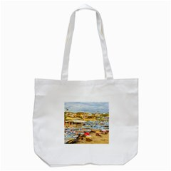 Engabao Beach At Guayas District Ecuador Tote Bag (white) by dflcprints
