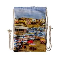 Engabao Beach At Guayas District Ecuador Drawstring Bag (small) by dflcprints