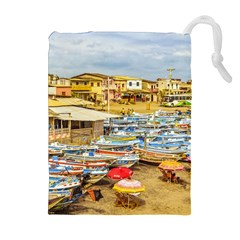 Engabao Beach At Guayas District Ecuador Drawstring Pouches (extra Large) by dflcprints