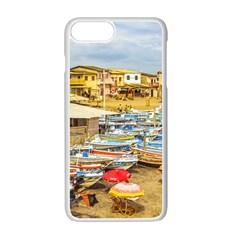 Engabao Beach At Guayas District Ecuador Apple Iphone 7 Plus White Seamless Case by dflcprints