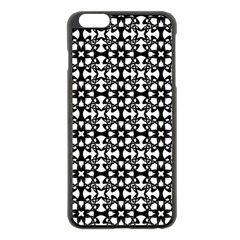 Pattern Apple Iphone 6 Plus/6s Plus Black Enamel Case by Valentinaart