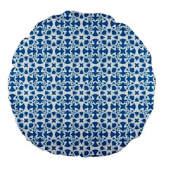 Pattern Large 18  Premium Flano Round Cushions by Valentinaart