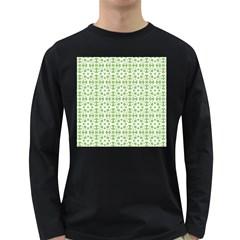 Pattern Long Sleeve Dark T Shirts by Valentinaart