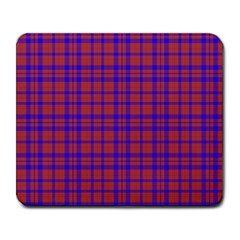 Pattern Plaid Geometric Red Blue Large Mousepads by Simbadda
