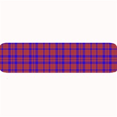 Pattern Plaid Geometric Red Blue Large Bar Mats by Simbadda
