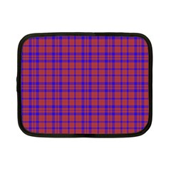 Pattern Plaid Geometric Red Blue Netbook Case (small)  by Simbadda
