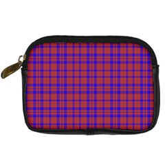 Pattern Plaid Geometric Red Blue Digital Camera Cases by Simbadda