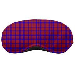 Pattern Plaid Geometric Red Blue Sleeping Masks by Simbadda