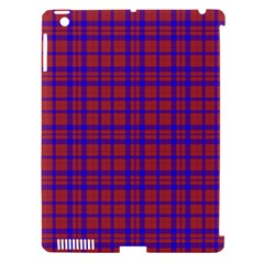 Pattern Plaid Geometric Red Blue Apple Ipad 3/4 Hardshell Case (compatible With Smart Cover) by Simbadda
