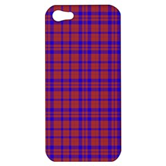 Pattern Plaid Geometric Red Blue Apple Iphone 5 Hardshell Case by Simbadda