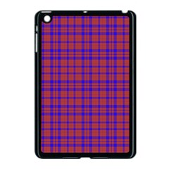 Pattern Plaid Geometric Red Blue Apple Ipad Mini Case (black) by Simbadda