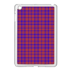 Pattern Plaid Geometric Red Blue Apple Ipad Mini Case (white) by Simbadda