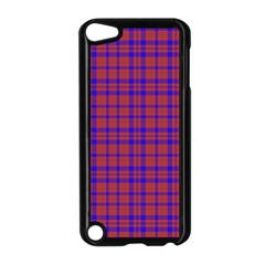 Pattern Plaid Geometric Red Blue Apple Ipod Touch 5 Case (black) by Simbadda