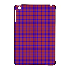 Pattern Plaid Geometric Red Blue Apple Ipad Mini Hardshell Case (compatible With Smart Cover) by Simbadda