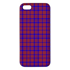 Pattern Plaid Geometric Red Blue Iphone 5s/ Se Premium Hardshell Case by Simbadda