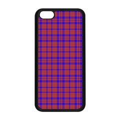 Pattern Plaid Geometric Red Blue Apple Iphone 5c Seamless Case (black) by Simbadda