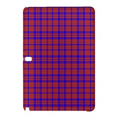 Pattern Plaid Geometric Red Blue Samsung Galaxy Tab Pro 12 2 Hardshell Case by Simbadda