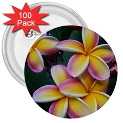 Premier Mix Flower 3  Buttons (100 Pack)  by alohaA