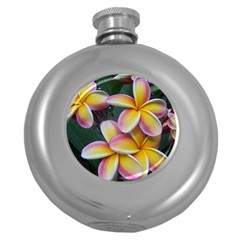 Premier Mix Flower Round Hip Flask (5 Oz) by alohaA
