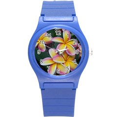 Premier Mix Flower Round Plastic Sport Watch (s) by alohaA