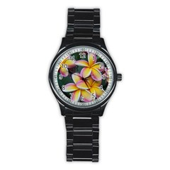Premier Mix Flower Stainless Steel Round Watch by alohaA