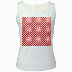 Pattern Women s White Tank Top by Valentinaart