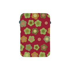 Floral Pattern Apple Ipad Mini Protective Soft Cases by Valentinaart