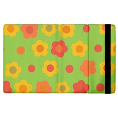 Floral Pattern Apple Ipad 2 Flip Case by Valentinaart