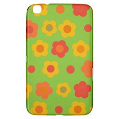 Floral Pattern Samsung Galaxy Tab 3 (8 ) T3100 Hardshell Case  by Valentinaart