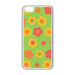 Floral Pattern Apple Iphone 5c Seamless Case (white) by Valentinaart