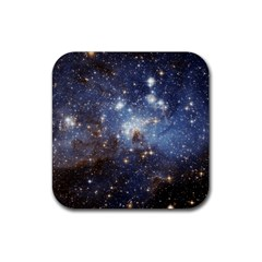 Large Magellanic Cloud Rubber Square Coaster (4 Pack)  by SpaceShop