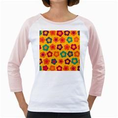 Floral Pattern Girly Raglans by Valentinaart