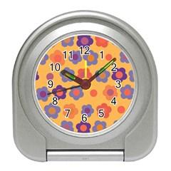 Floral Pattern Travel Alarm Clocks by Valentinaart
