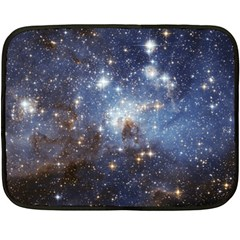 Large Magellanic Cloud Double Sided Fleece Blanket (mini)  by SpaceShop