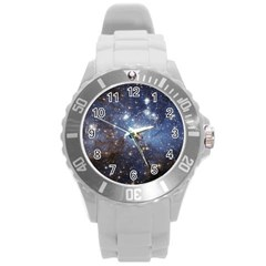 Large Magellanic Cloud Round Plastic Sport Watch (l) by SpaceShop