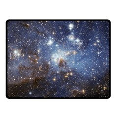 Large Magellanic Cloud Double Sided Fleece Blanket (small)  by SpaceShop
