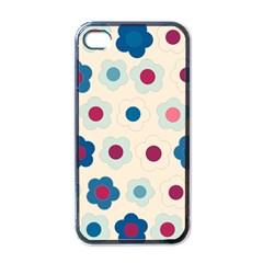 Floral Pattern Apple Iphone 4 Case (black) by Valentinaart