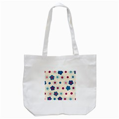 Floral Pattern Tote Bag (white) by Valentinaart