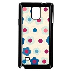 Floral Pattern Samsung Galaxy Note 4 Case (black) by Valentinaart
