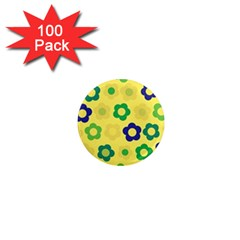 Floral Pattern 1  Mini Magnets (100 Pack)  by Valentinaart