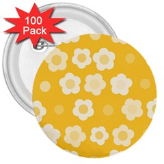 Floral Pattern 3  Buttons (100 Pack)  by Valentinaart