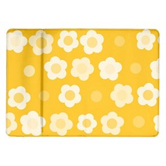 Floral Pattern Samsung Galaxy Tab 10 1  P7500 Flip Case by Valentinaart