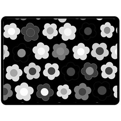 Floral Pattern Double Sided Fleece Blanket (large)  by Valentinaart