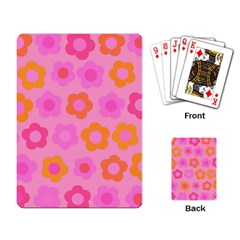 Pink Floral Pattern Playing Card by Valentinaart
