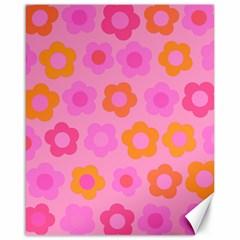 Pink Floral Pattern Canvas 16  X 20   by Valentinaart