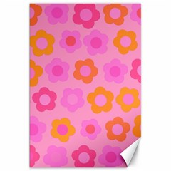 Pink Floral Pattern Canvas 20  X 30   by Valentinaart