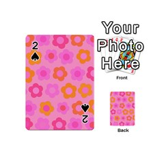 Pink Floral Pattern Playing Cards 54 (mini)  by Valentinaart